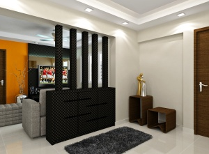 Foyer without clutter